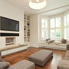 contemporary media room by Chris Snook