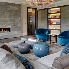 Contemporary Living Room by Staffan Tollgard Design Group