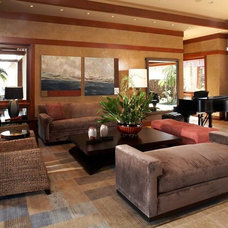 Asian Living Room by Knudson Interiors