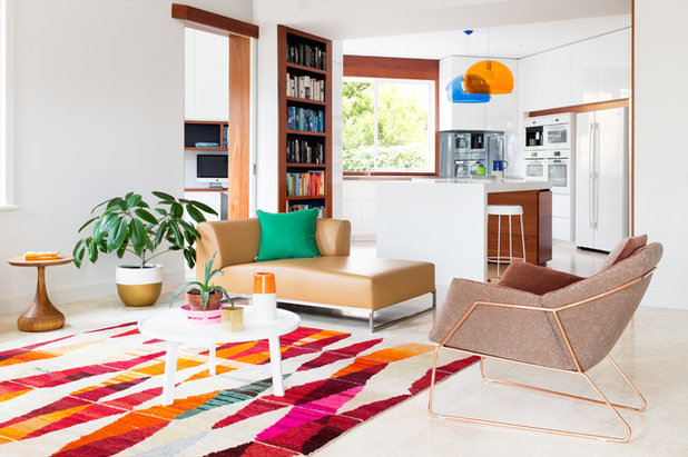 Transitional Living Room by WOWOWA Architecture & Interiors