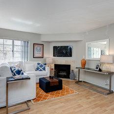 Small living room design ideas remodels photos with a for Classique ideas interior designs inc