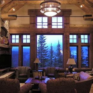 Elegant living room photo in Denver