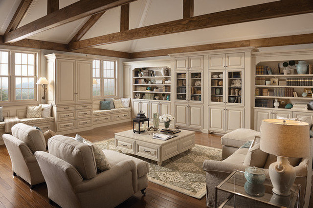 Traditional Living Room by Kitchen Cabinet Kings