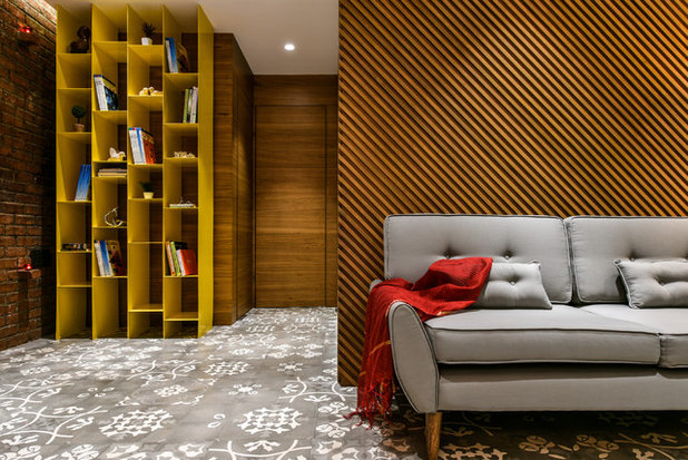 Contemporary Living Room by Open Atelier Mumbai