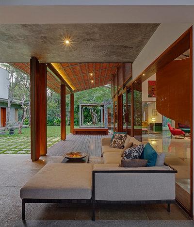 Contemporary Living Room by Khosla Associates