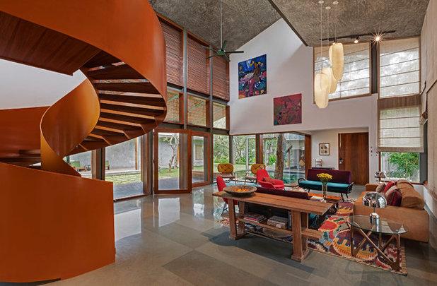 Eclectic Living Room by Khosla Associates