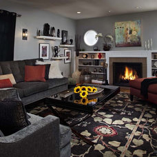 Eclectic Living Room by Kristina Wolf Design