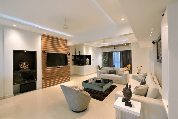 Contemporary Living Room by Milind Pai Architects & Interior Designers