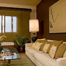 Asian Living Room by HUE Interior Design