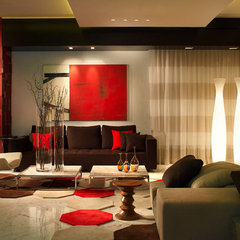 modern living room by Pepe Calderin Design- Miami Modern Interior Design