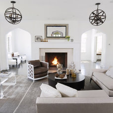 Contemporary Living Room by Kwinter & Co.