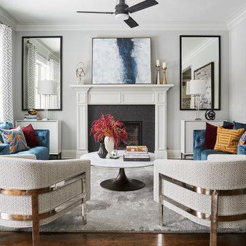 La Grange Park Residence - Living Room