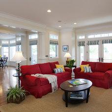 Craftsman Living Room by Steigerwald-Dougherty, Inc.