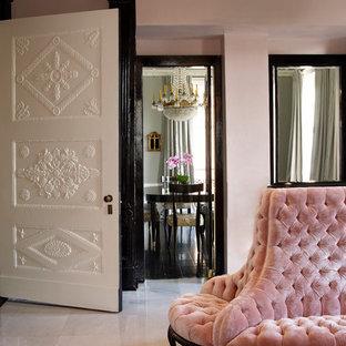 Soggiorno shabby-chic style con pavimento in marmo - Foto e Idee per ...