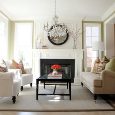 Eclectic Living Room by Belmont Design Group