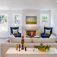 Transitional Living Room by FAB Architecture
