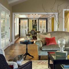 traditional living room by Amoroso Design