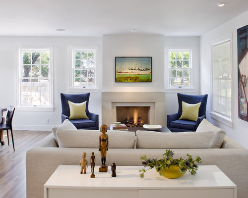 Blue Wingback Chairs | Houzz