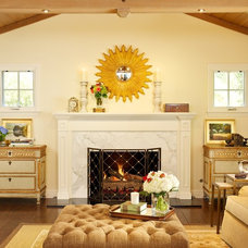 Traditional Living Room by Laura Martin Bovard