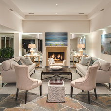 Transitional Living Room by Tiffany Hunter Home