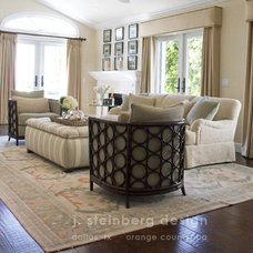 Traditional Living Room by Janelle Steinberg Interior Design