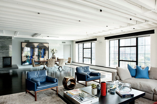 Industrial Living Room by DHD Architecture and Interior Design