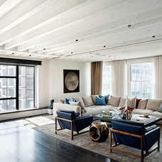 industrial living room by David Howell Design