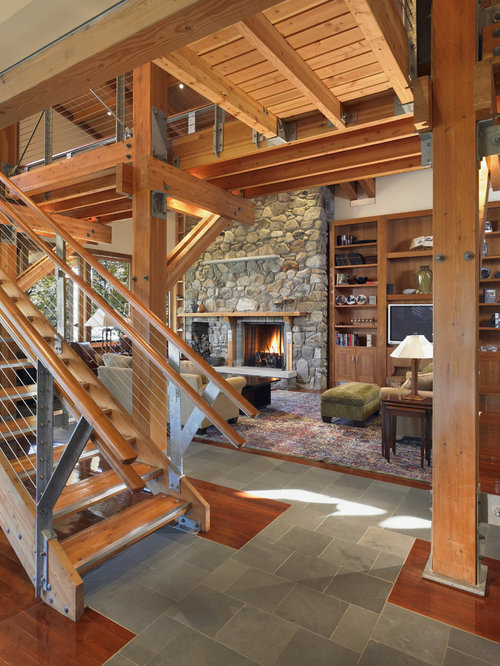 Rustic Stair Railing Design Ideas Amp Remodel Pictures Houzz