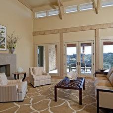 Contemporary Living Room by Bulhon Design Associates