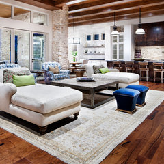 modern living room Lake Austin