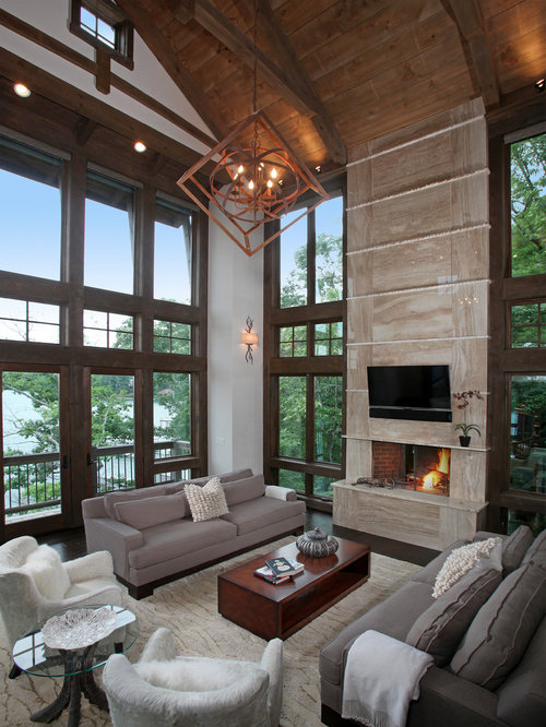 Modern rustic houzz for Modern rustic home plans