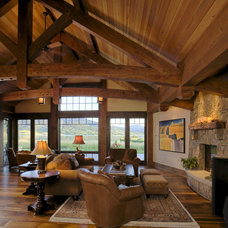 Rustic Living Room by Lynne Barton Bier - Home on the Range Interiors