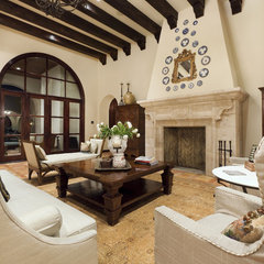 mediterranean living room by JAUREGUI Architecture Interiors Construction