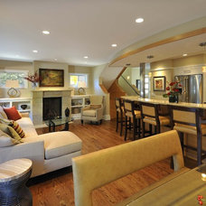 Contemporary Living Room by Lake Country Builders