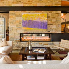 Contemporary Living Room by Krueger Architecture & Design