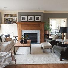 Beach Style Living Room by Kristin Hoaglund Design