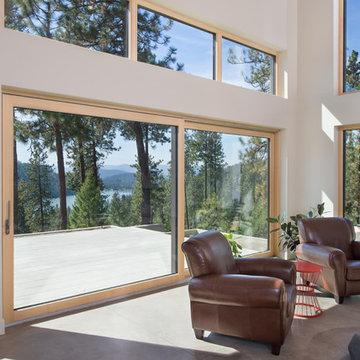 Lake Fernan Passive House Windows and Doors