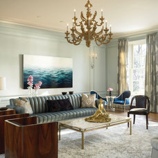 Transitional Living Room by Gary Lee Partners