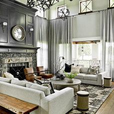 Transitional Living Room by Cynthia Lynn Photography