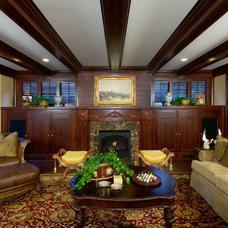 Traditional Living Room by Aulik Design Build