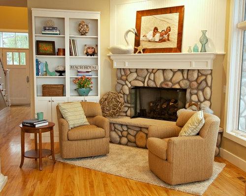 maritime wohnzimmer mit eckkamin ideen design bilder. Black Bedroom Furniture Sets. Home Design Ideas