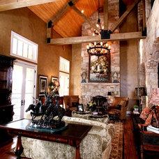 Rustic Living Room by Zbranek & Holt Custom Homes
