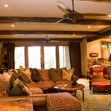 Rustic Living Room by Brent Gibson Classic Home Design