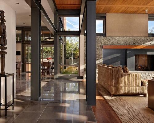 137 Paint Sherwin Williams Mega Greige Modern Living Room Design Photos