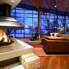 Modern Living Room by GMK Architecture Inc