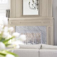 Contemporary Living Room by Linda McDougald Design   Postcard from Paris Home