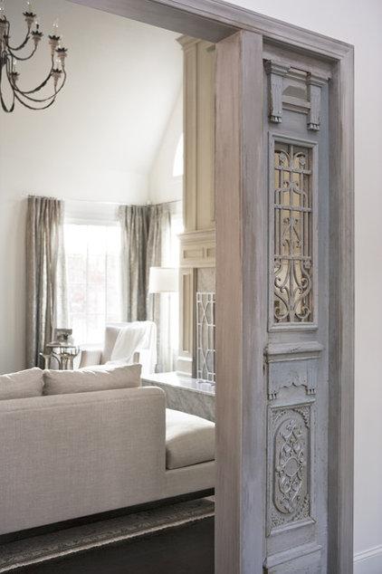 Contemporary Living Room by Linda McDougald Design | Postcard from Paris Home