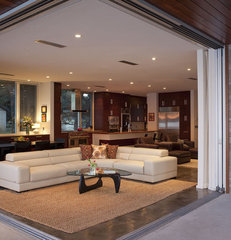 contemporary living room by Dick Clark Architecture