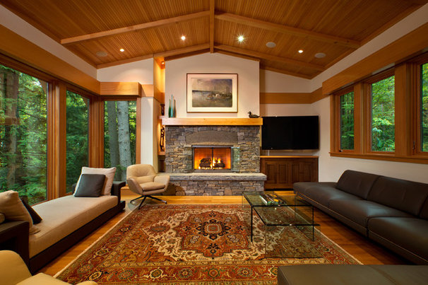 Contemporary Living Room by Phinney Design Group