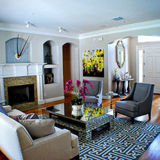 Eclectic Living Room by A.Clore Interiors